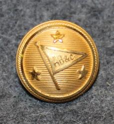 Adolf Bratt & Co, shipping company, 14mm, gilt