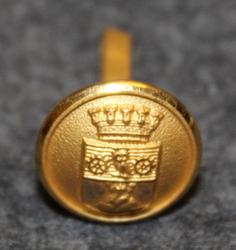 Tidaholm kommun. Swedish municipality, 13mm, gilt, cap button