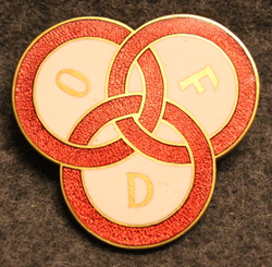 Odd Fellow Damen Förening, badge