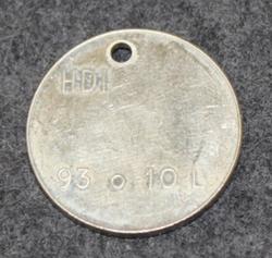 HDI 93 o 10L, polttoainerahake v. 1956, V2