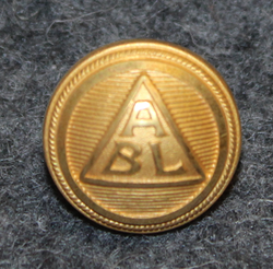 Broströms Linjeagentur, shipping company, 14mm gilt