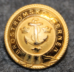 Broströms Koncernen, shipping company, 14mm, gilt. LAST IN STOCK
