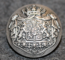 Swedish Coat of Arms, Court Livery, 19mm, gray