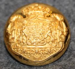 Ruotsin - Norjan unioni, vaakuna, 19mm, kullattu < 1905
