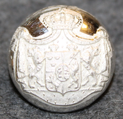 Swedish - Norwegian Union Coat of Arms, Court Livery, 17,5mm, pre 1905