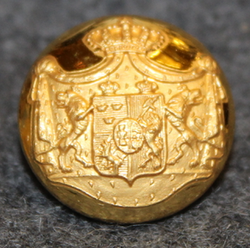 Swedish - Norwegian Union Coat of Arms, Court Livery, 17,5mm, gilt, pre 1905
