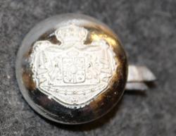 Swedish Coat of Arms, Court Livery, 17mm, cap button