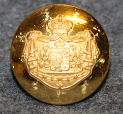 Swedish Coat of Arms, Court Livery, 17mm, gilt