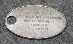 Effektiskydd, John Eriksonsgatan 15, Stockholm.