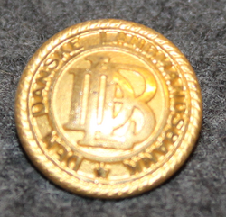 Den Danske Landmandsbank DLB, tanskalainen pankki, 16mm, kullattu