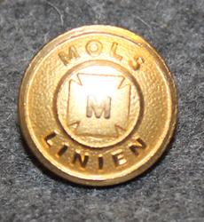 Mols-Linien, lauttayhtiö, kullattu, 15mm