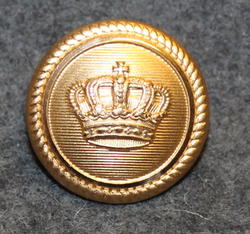 Danish crown 23mm, gilt