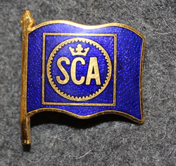 Svenska Cellulosa AB, shipping company cap badge.
