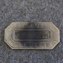 Karlstads Gasverk, tunnistekilpi