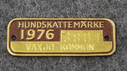 Hundskattemärke 1976, Växsjö Kommun, Dog licence