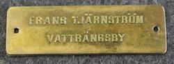 Frans Tjärnström Vattrångsby