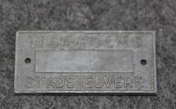 Tidaholms Stads Elverk. Sähkölaitos.