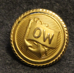 Walleniusrederierna OW, shipping company, 24mm, gilt