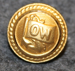 Walleniusrederierna OW, shipping company, 14mm, gilt