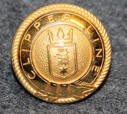 Rederi AB Clipper, laivayhtiö, 14mm, kullattu