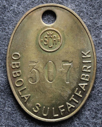 Svenska Cellulosa Aktiebolaget SCA, Obbola sulfatfabrik, numbered