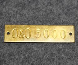 Odelberg & Olsson 5000, kilpi