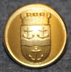 Gävle kommun. Ruotsalainen kunta, 23mm, kullattu
