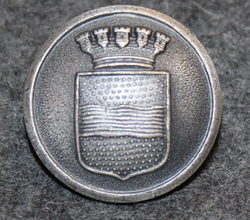 Värnamo stad. Swedish municipality, 22mm, gray