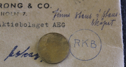 Elektriska Ab AEG. RKB lyödyt numerot
