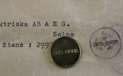 Elektriska Ab AEG. OHS-BRUK, Solna