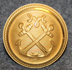 Malmö hamnförvaltningen, Port Authority, 25mm, gilt, cap button