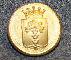Blekinge län, Swedish County. 22mm gilt