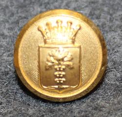 Blekinge län, Swedish County. 14mm, gilt