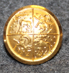 Gävleborgs län, Swedish County. 14mm, gilt v2