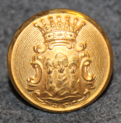 Västmanlands län, Swedish County. 22mm, old model, gilt, cap button
