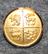 Kalmar län, Ruotsin lääni. 14mm, kullattu
