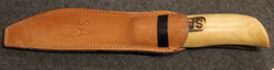 Finnish Army, Fiskars Knife with Sheath. SA stamps.