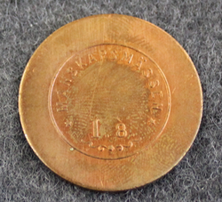 Upplands Regimente I.8. Manskapsmässen, Swedish military mess token, 5