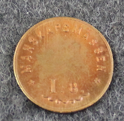 Upplands Regimente I.8. Manskapsmässen, Swedish military mess token, 1