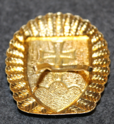 Slovakian Army, cap badge. Gilt