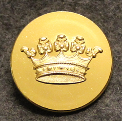 Grevlig krona, Crown of a Count, swedish court livery, 26mm. gilt