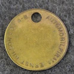 Automobilfirma Ernst Nilsson & Co 29mm