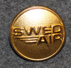 Swedair AB, Swedish regional airline company. 23mm gilt