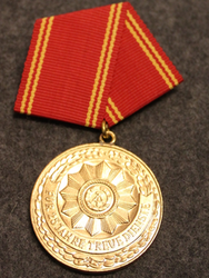 DDR Medaille für treue Dienste in den bewaffneten Organen des Ministeriums des Innern, Itäsaksalainen mitali. 25 v palvelus.