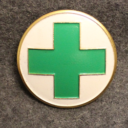 Norsk Folkehjelp. Norwegian peoples help. Cap Badge, v2
