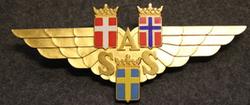 SAS, Scandinavian airlines, emblem / fascia. 1950-1960 OOS