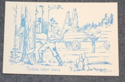 1940 Finnish interim peace era post card.
