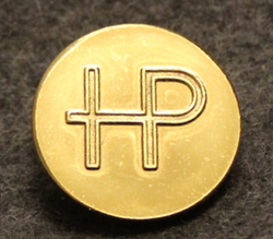 Hans Püttgen AB, Stockholm, avionics manufacturer and importer, 22mm, gilt