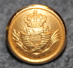 Sveriges Riksbank, The bank of Sweden, 14mm gilt, w/ crown
