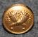 Sveriges Riksbank, Ruotsin keskuspankki, 14mm, kullattu